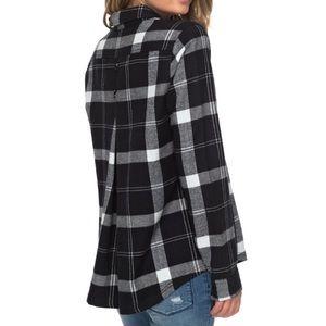Roxy Heavy Feelings Long Sleeve Plaid Shirt